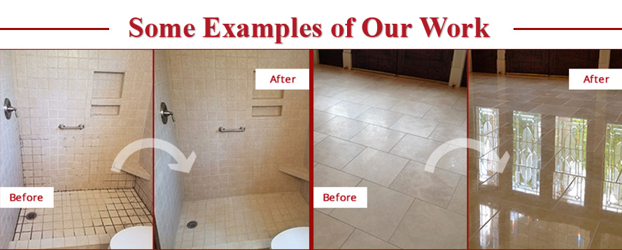Before and After Pictures of Some Examples of Sir Grout Northern New Jersey's Work